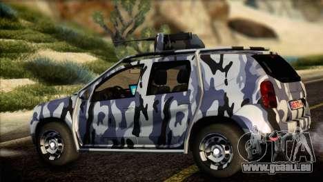 Dacia Duster Army Skin 3 für GTA San Andreas linke Ansicht