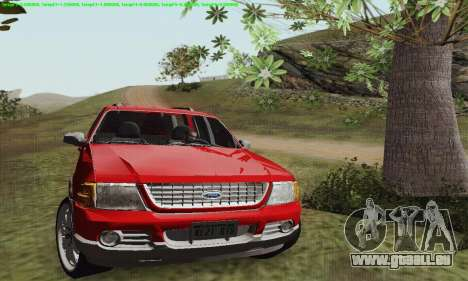 Ford Explorer 2002 pour GTA San Andreas sur la vue arrière gauche