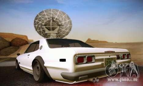 Nissan Skyline 2000GTR 1967 Hellaflush für GTA San Andreas rechten Ansicht