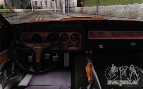 Dodge Charger 1971 Super Bee pour GTA San Andreas vue de droite