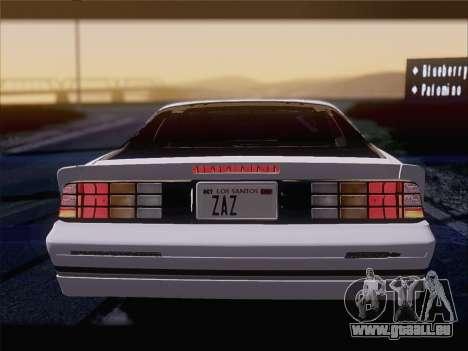 Chevrolet Camaro IROC-Z 1990 pour GTA San Andreas moteur