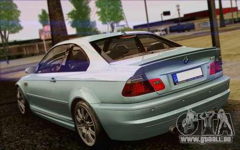 BMW M3 E46 2005 für GTA San Andreas obere Ansicht
