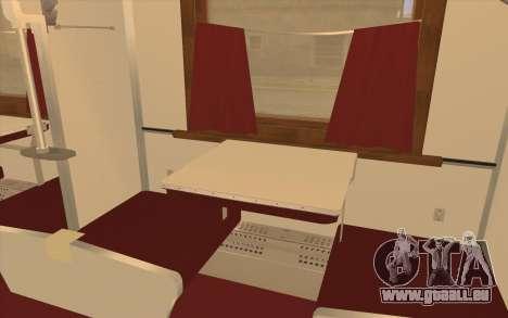 Reservierter Sitzplatz Waggon für GTA San Andreas rechten Ansicht