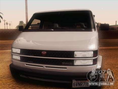 Youga GTA 5 pour GTA San Andreas sur la vue arrière gauche
