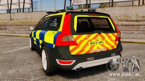 Volvo XC70 Police [ELS] pour GTA 4 Vue arrière de la gauche