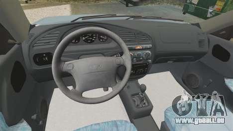 Daewoo Lanos 1997 PL pour GTA 4 est une vue de l'intérieur