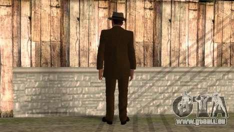 Cole Phelps de L.A. Noire pour GTA San Andreas deuxième écran