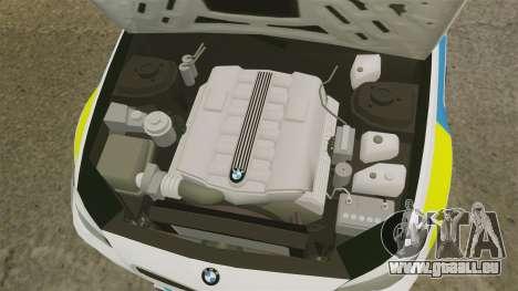 BMW M5 Unmarked Police [ELS] pour GTA 4 est une vue de l'intérieur
