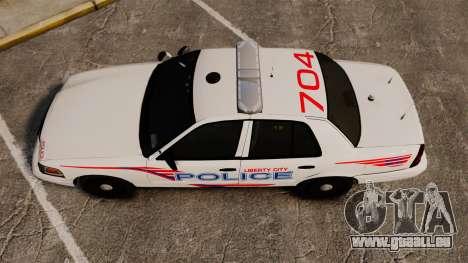 Ford Crown Victoria 2008 LCPD Patrol [ELS] pour GTA 4 est un droit