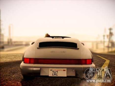 Porsche 911 Speedster Carrera 2 1992 pour GTA San Andreas vue de droite