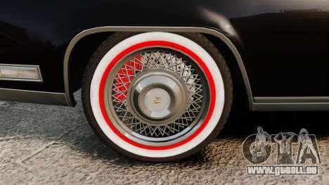 Cadillac Eldorado Coupe 1969 für GTA 4 Rückansicht