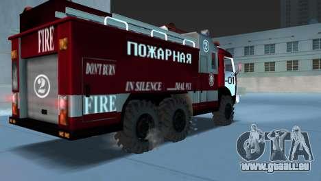 KAMAZ 43101 pompier pour une vue GTA Vice City de la gauche