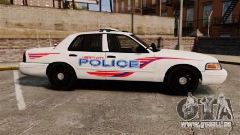 Ford Crown Victoria 2008 LCPD Patrol [ELS] pour GTA 4 est une gauche