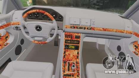 Mercedes-Benz S600 (W140) 1998 pour GTA 4 est un côté