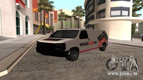 Newsvan Rumpo GTA 5 für GTA San Andreas