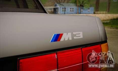 BMW M3 E30 pour GTA San Andreas roue