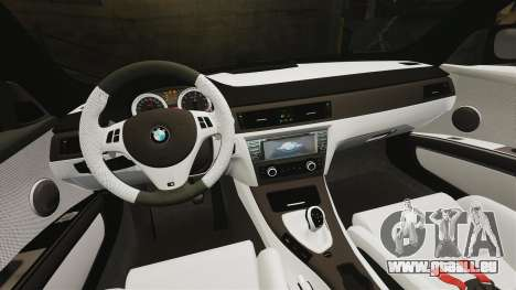 BMW M3 GTS Widebody pour GTA 4 est une vue de dessous