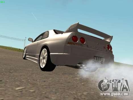 Nissan Skyline R33 GT-R pour GTA San Andreas vue de droite