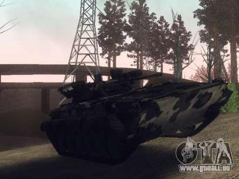 BMP-2 pour GTA San Andreas sur la vue arrière gauche