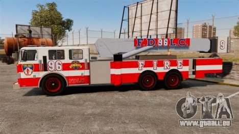 MTL Firetruck Tower Ladder FDLC [ELS-EPM] für GTA 4 linke Ansicht