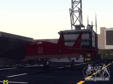 MiG 25 pour GTA San Andreas vue de dessous