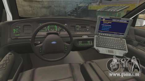 Ford Crown Victoria 1999 Florida Highway Patrol für GTA 4 Rückansicht