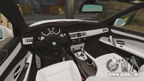 BMW M5 E60 City Of London Police [ELS] für GTA 4 Innenansicht