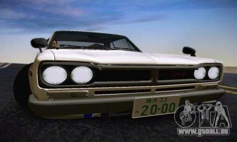 Nissan Skyline 2000GTR 1967 Hellaflush für GTA San Andreas Innen