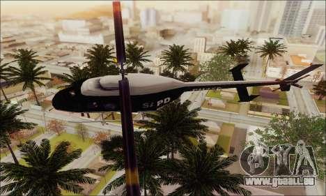 Police Maverick für GTA San Andreas zurück linke Ansicht