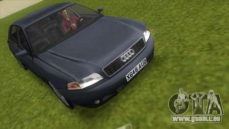 Audi A8 VCM pour GTA Vice City sur la vue arrière gauche