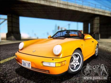 Porsche 911 Speedster Carrera 2 1992 pour GTA San Andreas vue arrière