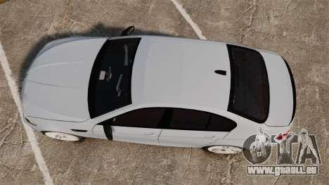 BMW M5 Unmarked Police [ELS] für GTA 4 rechte Ansicht