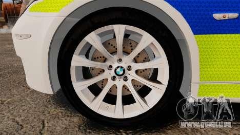 BMW M5 E60 City Of London Police [ELS] für GTA 4 Rückansicht