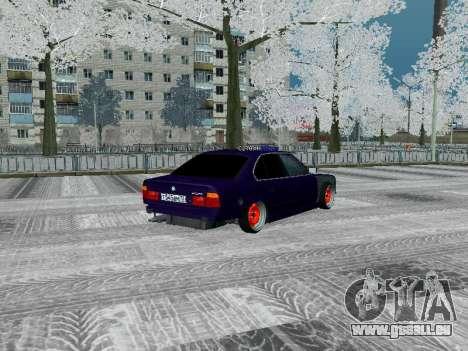BMW 525i e34 Hobo pour GTA San Andreas vue de droite