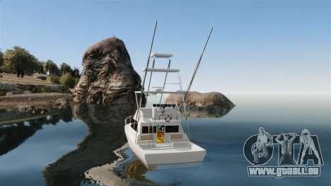 Sport fishing yacht pour GTA 4 Vue arrière de la gauche
