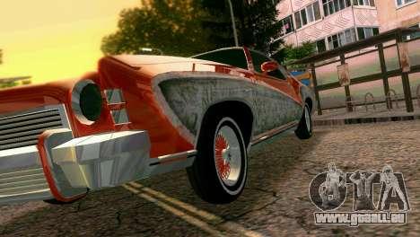 Chevy Monte Carlo Lowrider pour une vue GTA Vice City d'en haut