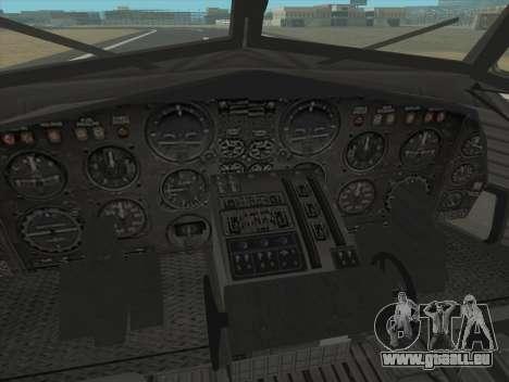 Fairchild C-123 Provider für GTA San Andreas Rückansicht
