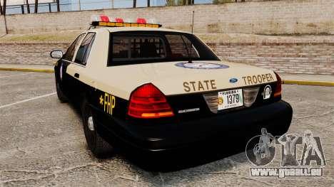 Ford Crown Victoria 1999 Florida Highway Patrol pour GTA 4 Vue arrière de la gauche