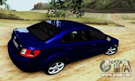 Kia Rio II 2009 pour GTA San Andreas sur la vue arrière gauche