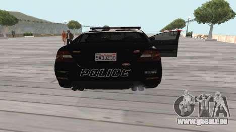 GTA V Police Cruiser pour GTA San Andreas vue de droite