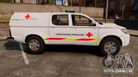 Toyota Hilux French Red Cross [ELS] pour GTA 4 est une gauche