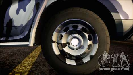 Dacia Duster Army Skin 3 für GTA San Andreas zurück linke Ansicht