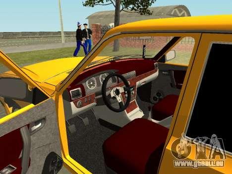 GAZ Volga 31105 pour GTA San Andreas vue intérieure