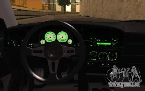 Volkswagen Golf Mk3 pour GTA San Andreas vue arrière