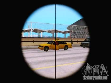 Le nouveau viseur de fusil pour GTA San Andreas troisième écran