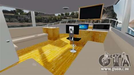 Sport fishing yacht pour GTA 4 Vue arrière