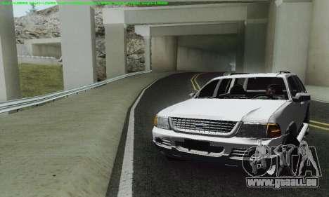 Ford Explorer 2002 für GTA San Andreas Innenansicht