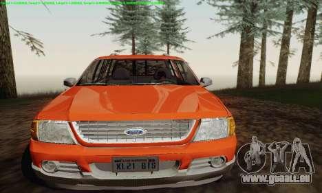 Ford Explorer 2002 für GTA San Andreas Rückansicht