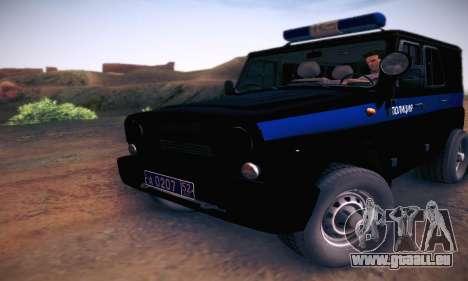 UAZ Hunter-Polizei für GTA San Andreas linke Ansicht