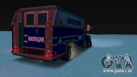 Enforcer avec la texture d'AUMONT pour GTA Vice City sur la vue arrière gauche